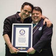Noel Fitzpatrick receiving his award