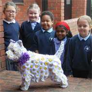 Primary schools decorate dog mannequins for charity