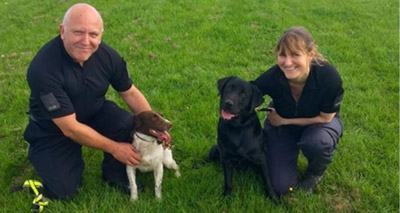 Police dogs trained to sniff-out data devices