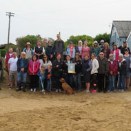 Nurses take part in beach clean for VNAM
