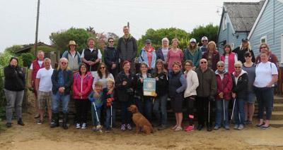 Nurses take part in beach clean for VNAM