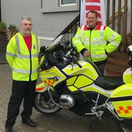 BSAVA 'blood bikers' help save human lives