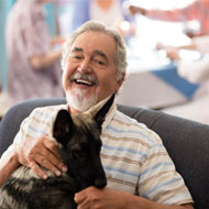 Therapy dogs lower blood pressure in the elderly