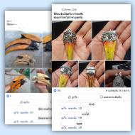 Hornbill parts for sale on Thai social media