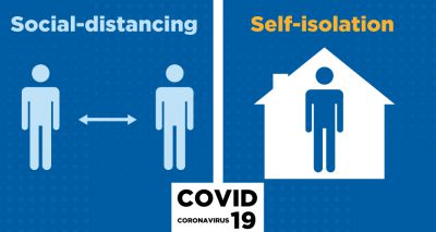 What are social distancing and self-isolation?