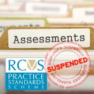 RCVS suspends Practice Standards Scheme assessments