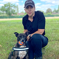 Abandoned Staffie becomes life-saving explosives dog